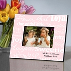 Personalized Colorful Flower Girl Picture Frames