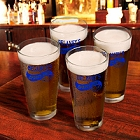 Sports Bar Personalized Pub Glasses Set of 4