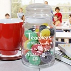 Personalized Teacher Glass Treat Goodies Jar