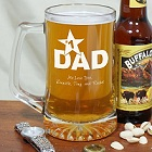 Any Title Number 1 Personalized Glass Beer Mug