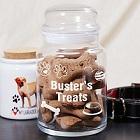 Personalized Dog Treat Glass Jar