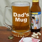 Any 2 Lines Personalized Message Glass Beer Mug