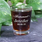 Personalized Bridesmaid Shot Glass