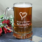 Engraved Wedding Party Glass Mugs - Female