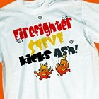 Kicks Ash Personalized Firefighter T-shirt