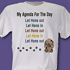 Agenda For the Day Personalized T-shirt