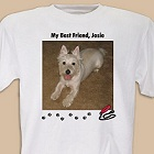 My Best Friend Personalized Dog Photo T-shirt