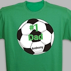 Number 1 Soccer Fan Personalized Adult T-shirt
