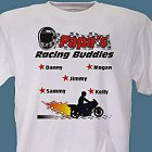 Racing Buddies Personalized Motorcycle Racing T-Shirts