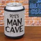 Personalized Man Cave Can Wrap Koozies