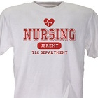 Nursing TLC Personalized Nurse T-Shirts