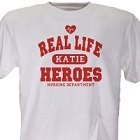 Real Life Heroes Personalized Nurse T-Shirt