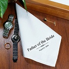 Personalized Wedding Bridal Party Men's Handkerchief