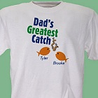 Greatest Catch Personalized Fishing T-Shirt
