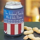 Personalized Patriotic American Eagle Can Wrap Koozies
