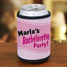 Personalized Bachelorette Party Can Koozie Wrap