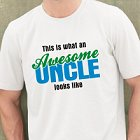 Awesome Uncle Personalized Uncle T-shirt