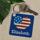 Stars and Stripes Personalized Patriotic Key Chains