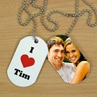 Personalized I Love Photo Dog Tags