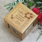 Thank You Bridesmaid Personalized Bridal Party Photo Cube