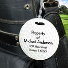 Golf Ball Personalized Golf Bag Tag