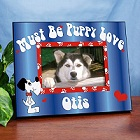 Personalized Puppy Love Printed Pet Picture Frame