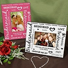 Personalized Bridesmaid Colorful Picture Frames