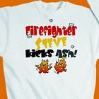Kicks Ash Personalized Firefighter Sweatshirt