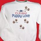 Personalized Puppy Love Dog Lover Sweatshirt