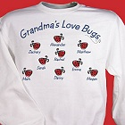 Love Bugs Personalized Grandmother Sweatshirts