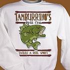 Bass Club Fishing Personalized Fishing Sweatshirt