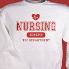 TLC Nursing Personalized Nurse Sweatshirts