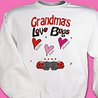 Love Bugs Hearts Personalized Grandmother Sweatshirts