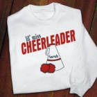 Personalized Cheerleader Youth Sweatshirt