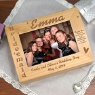 Engraved Bridesmaid Wedding Photo Keepsake Box