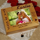 Maid of Honor Personalized Photo Keepsake Box