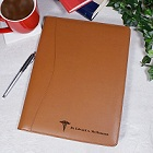 Personalized Medical Caduceus Leather Portfolio