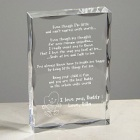 Even Though I Am Little Personalized Father's Keepsake