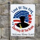 Land of the Free Personalized Military Garden Flags