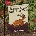 Neck of the Woods Personalized Autumn Garden Flags