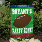 Football Party Zone Personalized Garden Flags