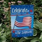 American Flag Personalized Patriotic Garden Flags