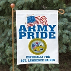 Army Pride Personalized Garden Flags