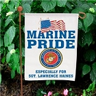 Military Pride Personalized Marines Garden Flags