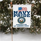 Military Pride Personalized Navy Garden Flags