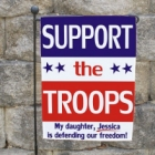Personalized Support Our Troops Patriotic Garden Flags