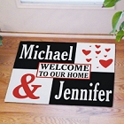Just the Two of Us Personalized Doormat
