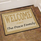 Welcome Home Personalized Welcome Door Mat