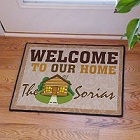 Log Cabin Personalized Doormat