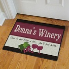My Winery Personalized Welcome Door Mat